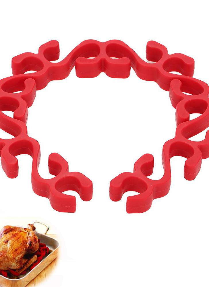 Silicone Grill Flexible Heat-Resistant Baking Rings Meat Oven-Safe Poultry & Vegetables Healthy Cooking Tools