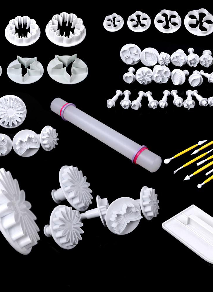 46pcs cake icing and embossing decorating tools set