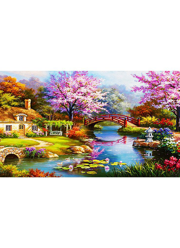 31*15inch / 79*38cm DIY 5D Diamond Painting Set Scene Pattern Rhinestone Mosaic Cross Stitch Embroidery Craft home wall coverings