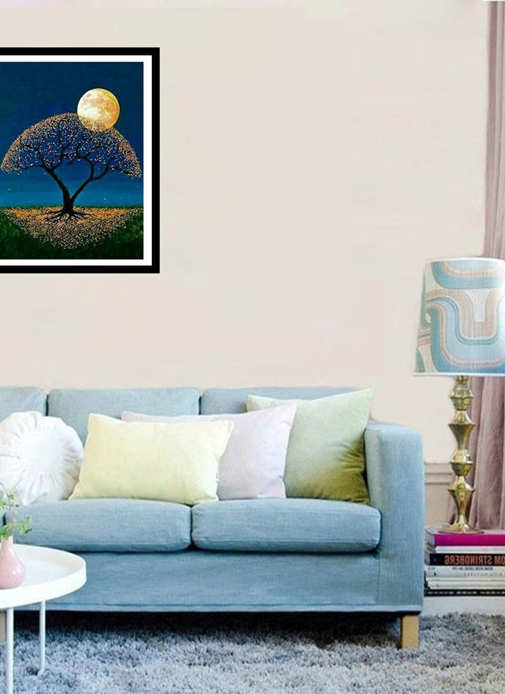 5D DIY diamond painting kit craft embroidery cross stitch rhinestone decorative canvas wall home office decorative style