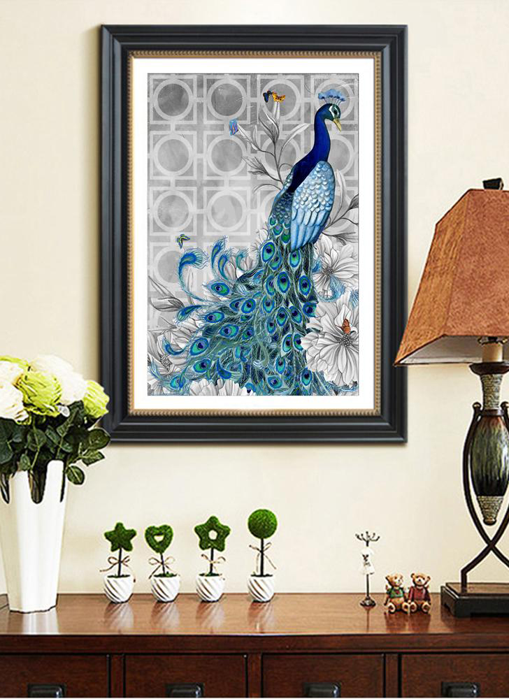 5D Diamond embroidery DIY diamond painting peacock picture sticker rhinestone home decoration gifts