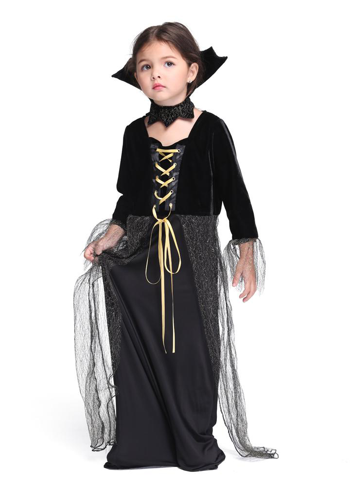 Fancy Magic Witch CostumeHalloween Children's DressesCosplay Girls CostumesParty Costumes