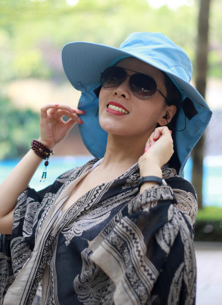New fashion nylon bluetooth sun hat big eaves cap female summer bluetooth music cap wireless hands-free smart cap headphones headset microphone