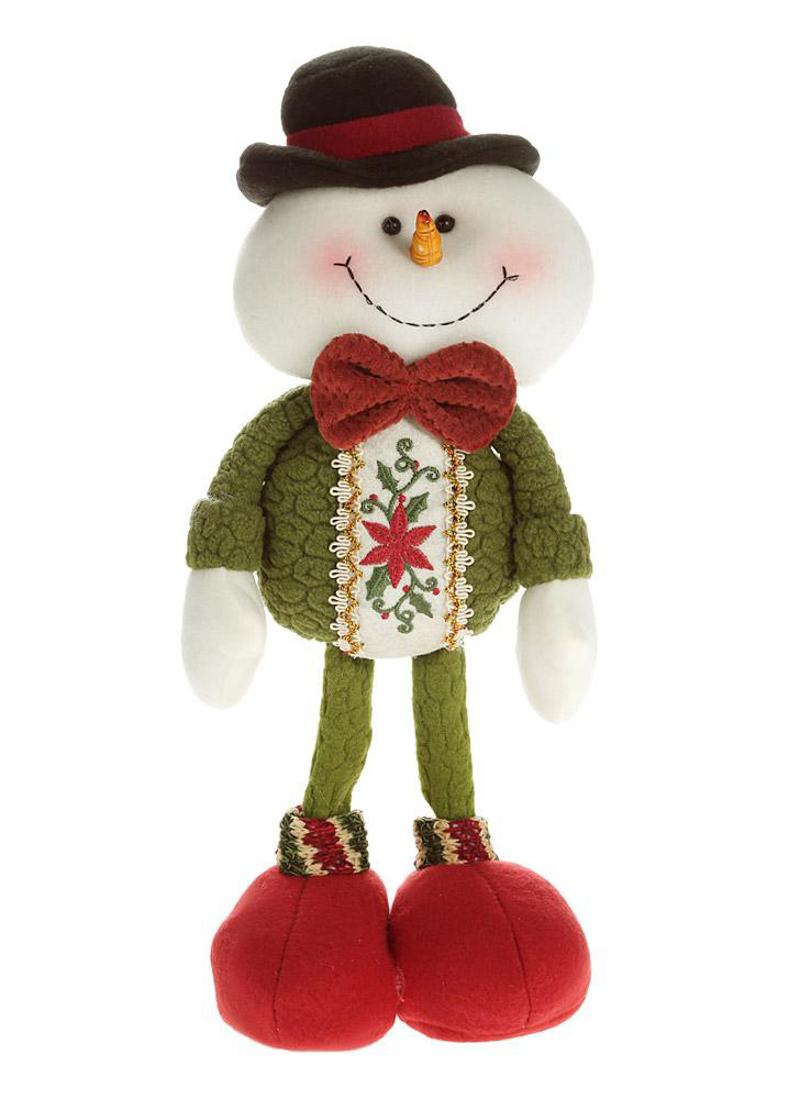 High-end cute Christmas stuffed toys delicate cute standing Santa reindeer snowman snowman dolls Christmas decorations
