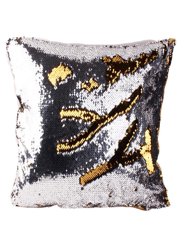 Two-Tone Pillow Cover Protective Case Mermaid Super Shiny Glitter Sequin Glitter Sofa Cushion Decoration