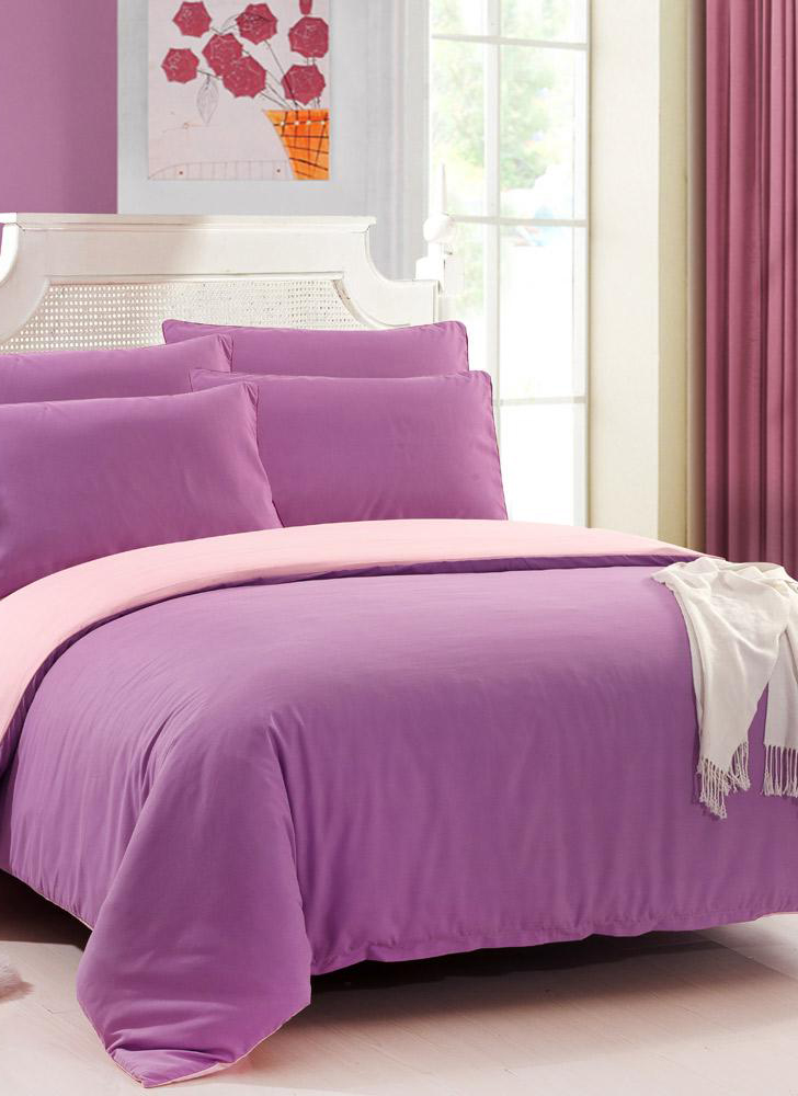 4 Piece Fashion Sanded Solid Color Bedding Set Duvet Cover Queen Duvet Cover + Sheet + 2 Pillowcases Home Textiles