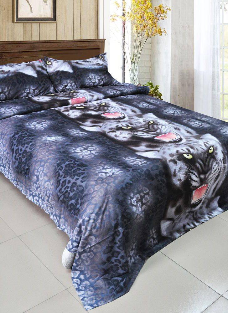 4 Piece 3D Printed Bedding Set Bedding Black Tiger Duvet Cover Bed Linen 2 Pillowcases
