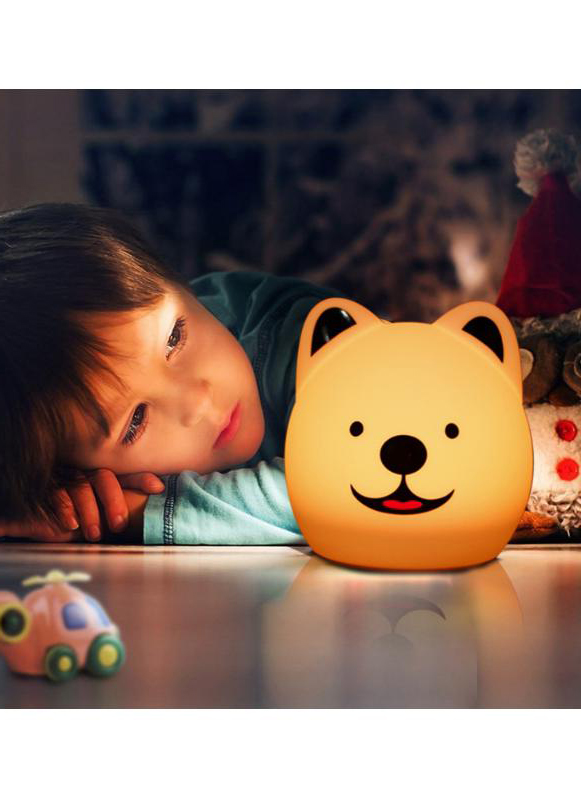 Colorful Silicone Bedroom Romantic Mood Lamp Remote Control Desk Lamp LED Puppy Sleep Lamp