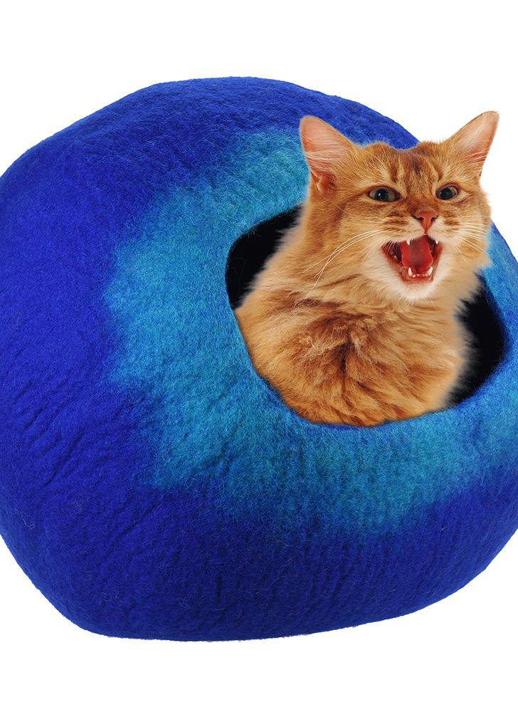Soft and comfortable hand plush pet cat hole bed nest for large cats and kittens